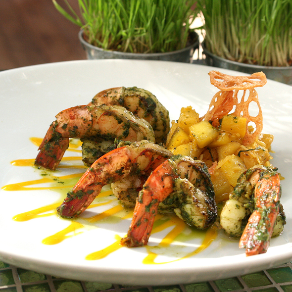 Asian Pesto Grilled Shrimp