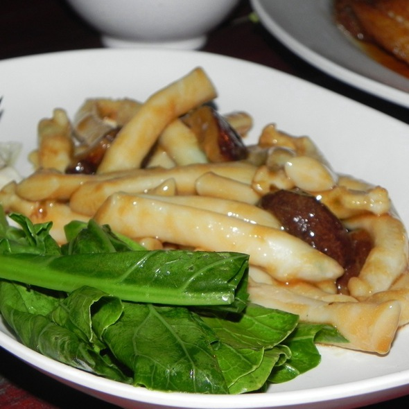 Sea Asperagus With Mushrooms In Oyster Sauce @ Chomtalay Restaurant
