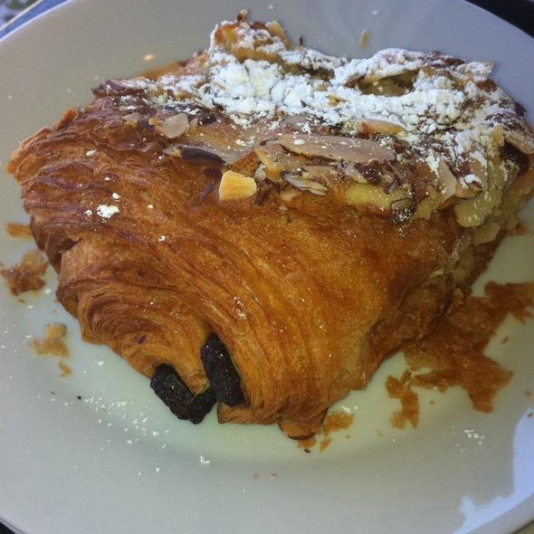Warm Milk Chocolate Croissant Bread Pudding @ La Boulangerie