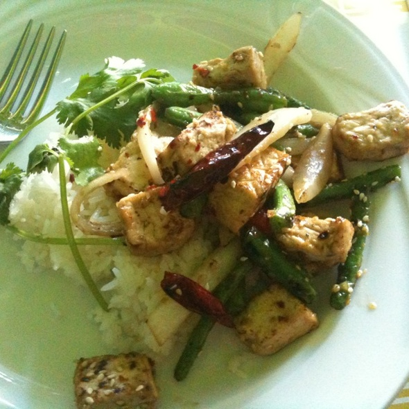 Lemongrass tofu with chilies