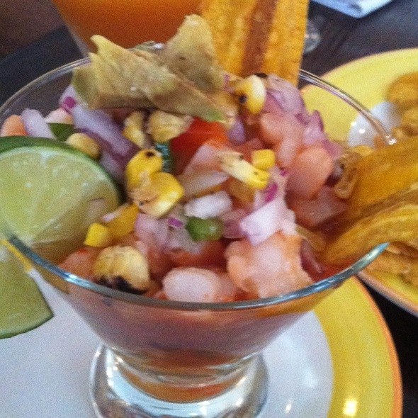 Equadorian Style Shrimp Ceviche @ Salud Restaurant & Bar