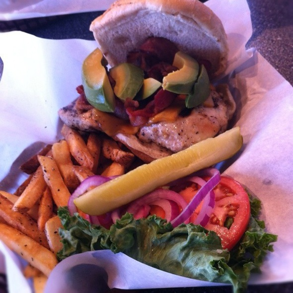 Chipotle Ranch & Avocado Chicken Burger @ Gourmet Burger Grill