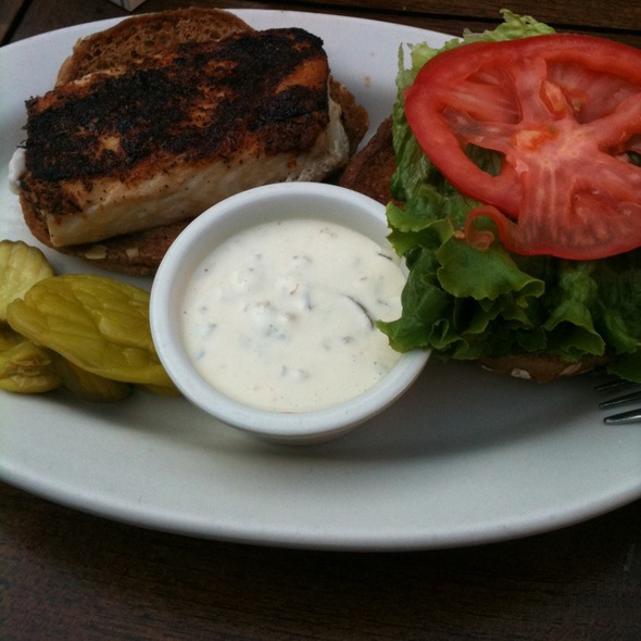 Blackend Mahi Mahi Sandwich @ E J Malloy's