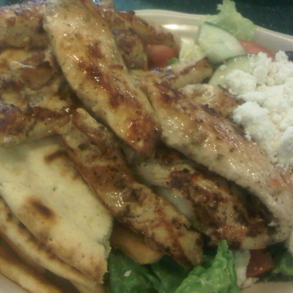 Chicken Souvlaki Platter @ Viand Coffee Shop