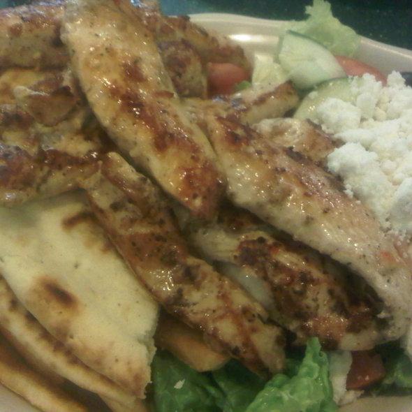 Chicken Souvlaki Platter @ Viand Coffee Shop