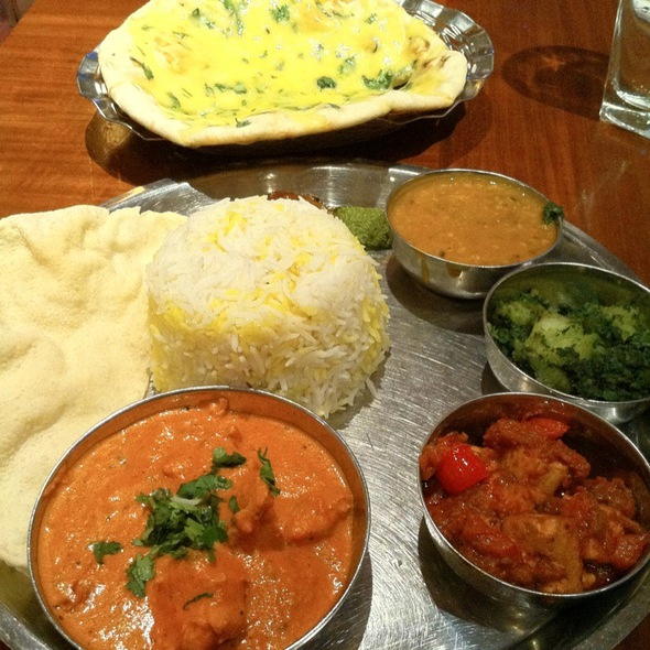 Butter Chicken Thali @ Masala Zone Restaurant Soho