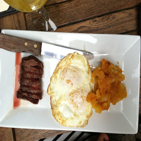 Ny Strip Steak With Eggs @ Vero Restaurant & Wine Bar