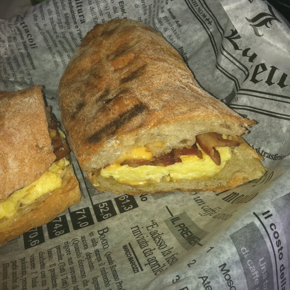 Bacon Egg And Cheese On Toasted Ciabatta @ Tavolo Pronto