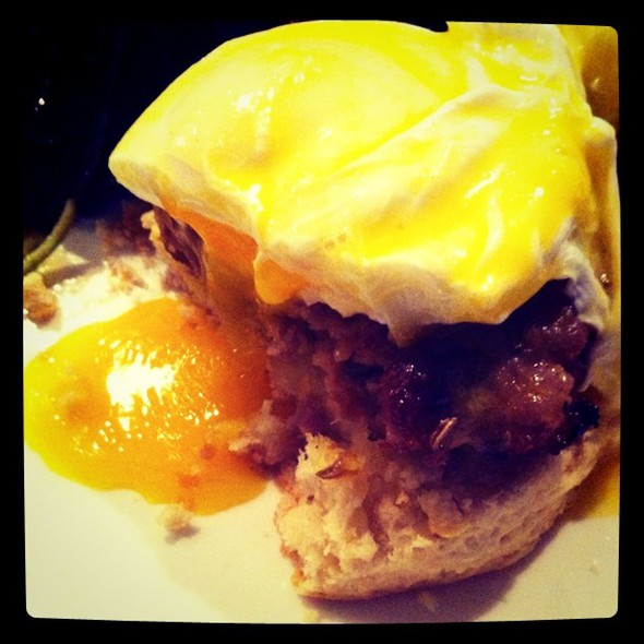 Country sausage benedict @ salt