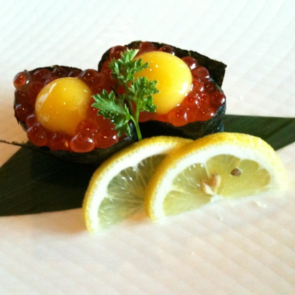 Ikura With Quail Egg