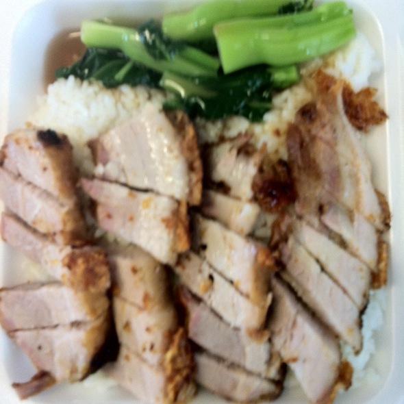 Crispy Roast Pork On Rice @ Lagoon Chinese Food Inc