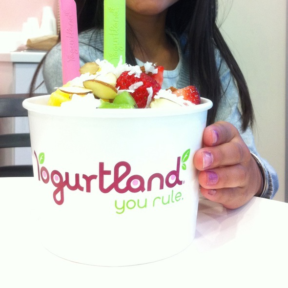 Tart Frozen Yogurt With Fruit @ Yogurtland