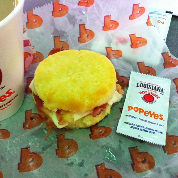 Breakfast Biscuit @ DFW Terminal D - Popeyes