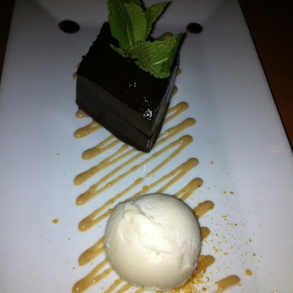 chocolate ganache @ Blossom Vegan Restaurant & Cafe