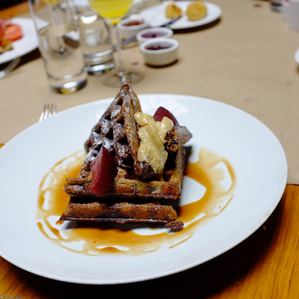 Black Pudding Waffles @ Public Restaurant