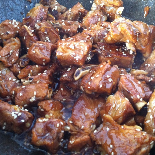 Honey And Sesame Pork Ribs