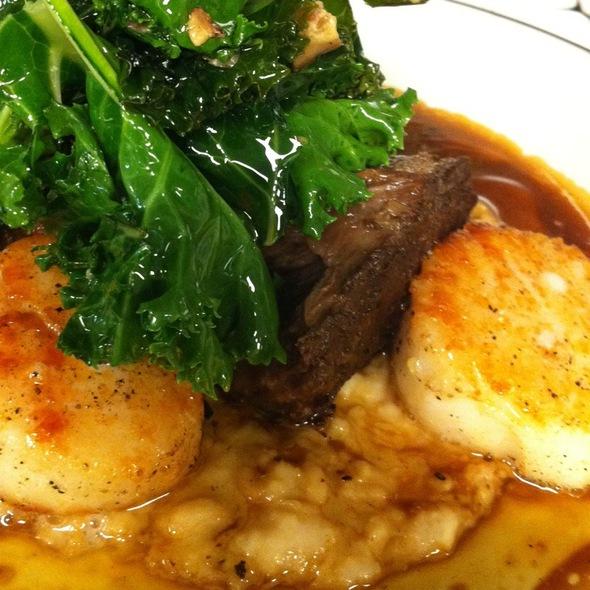 Diver Scallops, Braised Short Rib, Mustard Greens - Oceanaire Seafood Room - Denver, Denver, CO