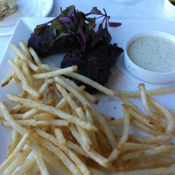 Grilled Hanger Steak - The Pointe Restaurant, Provincetown, MA