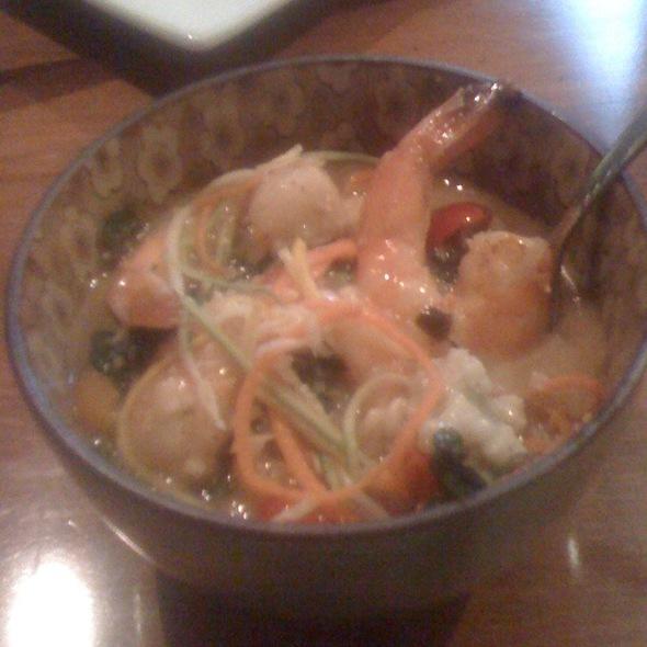 Shrimp Scampi On Risotto - Aqua Restaurant, Beaufort, NC