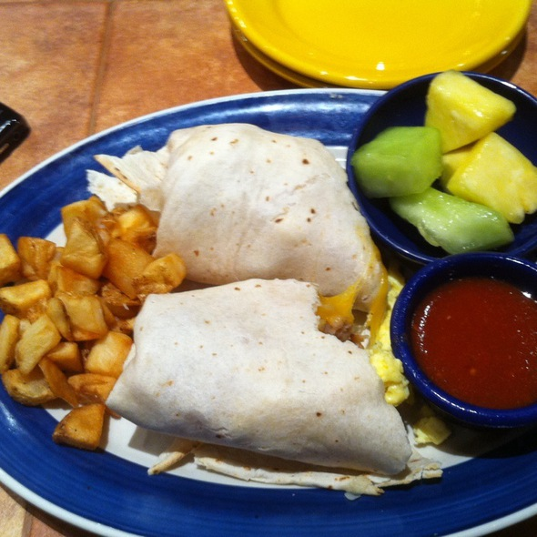 Breakfast Burrito With Eggs And Sausage And Potato @ On The Boarder Mexican Grill & Cantina