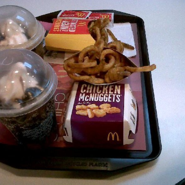 chicken nuggets,twister fries and coke float