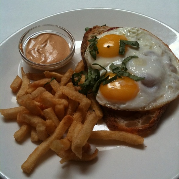 Open-face Heirloom Tomato, Basil And Egg Sandwich @ Elite Cafe Inc