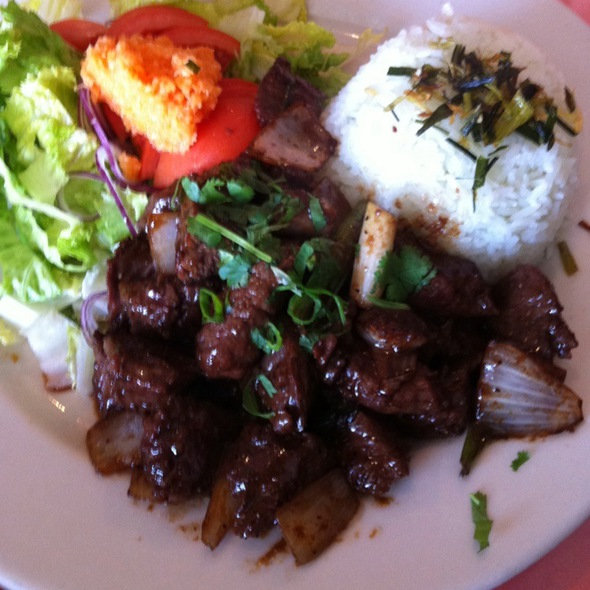 Flambe Beef Cubes @ Miss Saigon Cafe