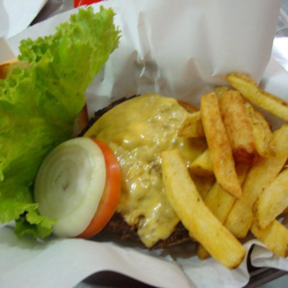 charlie's burger and fries @ Charlie's Grind and Grill
