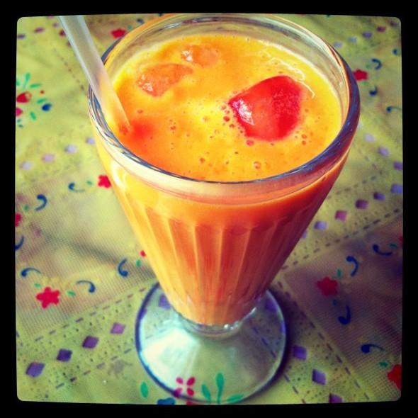 mango lassi @ Gandhi Fine Indian Cuisine