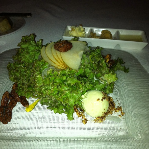 Pecan Pie Salad With Blue Cheese Ice Cream  - The Oakroom, Louisville, KY