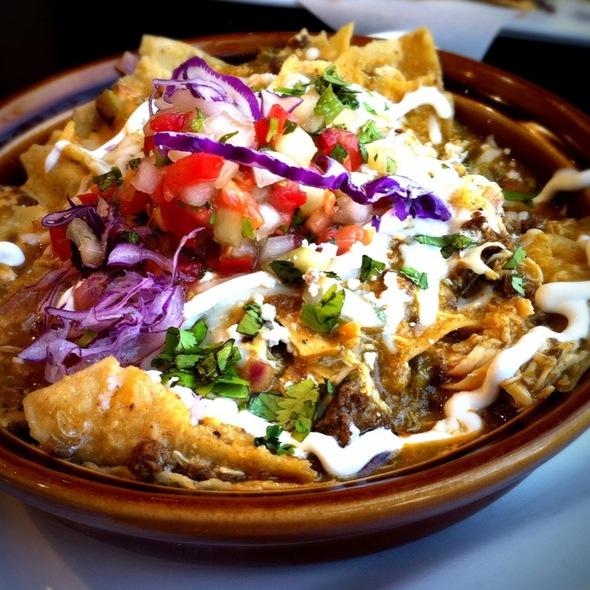 Chilaquiles Con Pollo Y Chorizo @ Yucatan Taco Stand