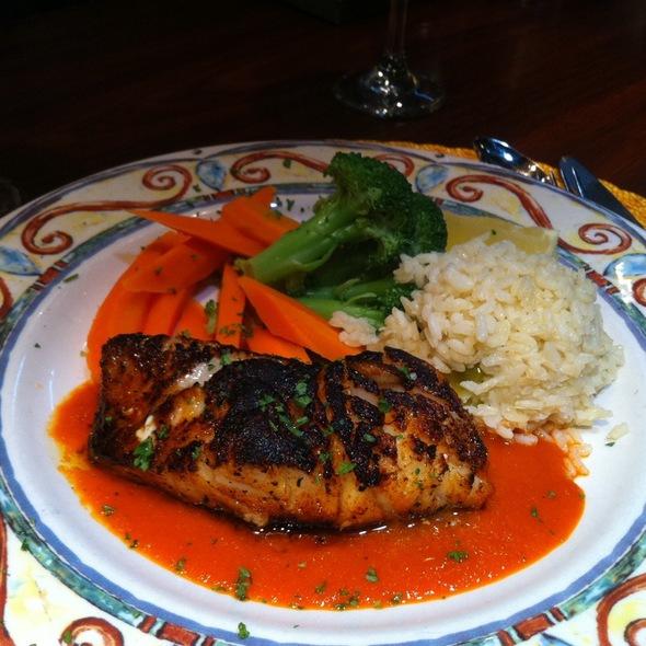 Spiced Rubbed Chilean Sea Bass - Fins Bistro, Issaquah, WA