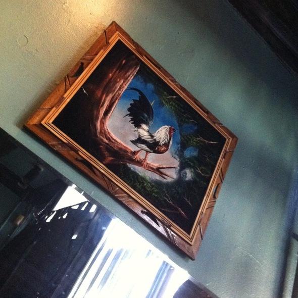 Velour Chicken On Wood Frame  @ Mr. Pollo
