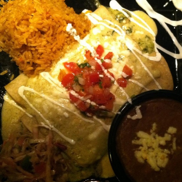 Spinach And Shrimp Enchilada - RJ Mexican Cuisine, Dallas, TX