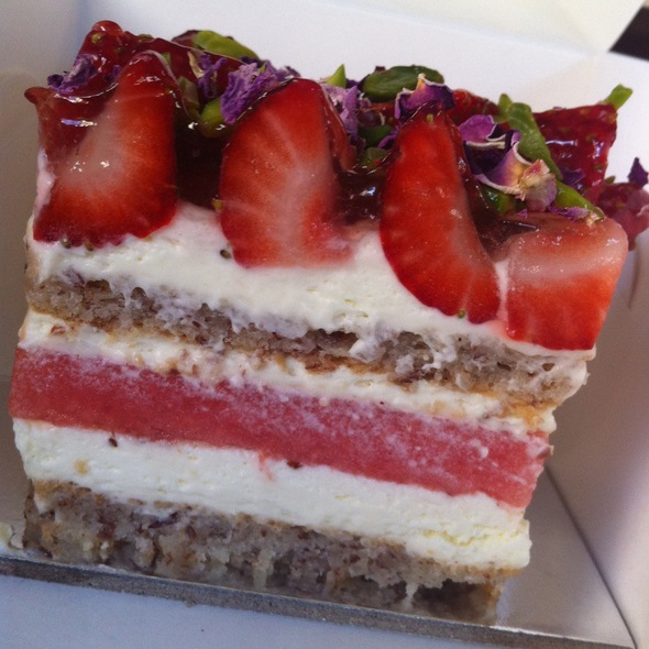 Strawberry Watermelon Cake with Rose Cream @ Black Star Pastry