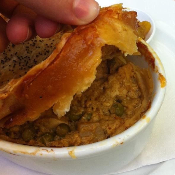 Curry Chicken Pot Pie at Flutterbies Cottage Café