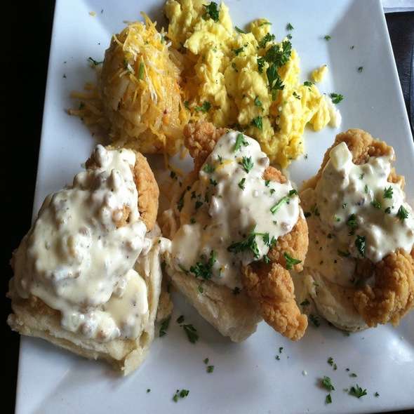 Chicken Biscuits And Gravy @ No Frill Bar & Grill
