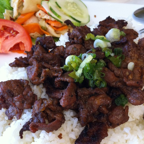 Grilled Pork With Broken Rice @ Kim Long, Tampa