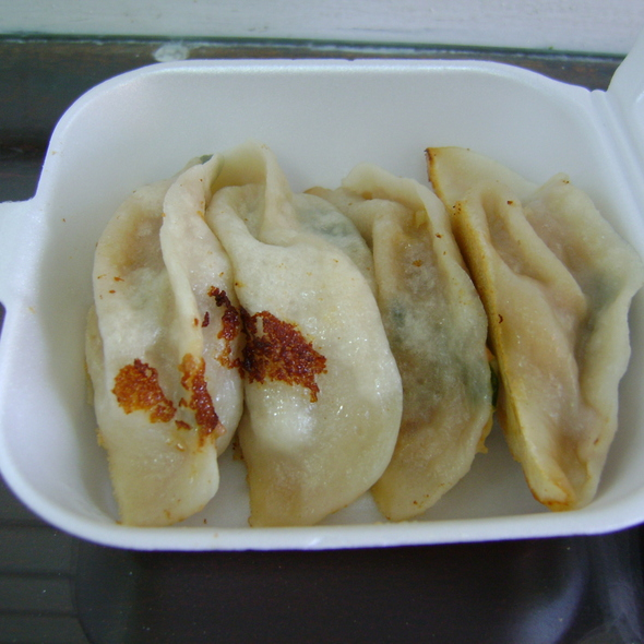 Fried Pork and Scallion Dumplings @ Fried Dumpling