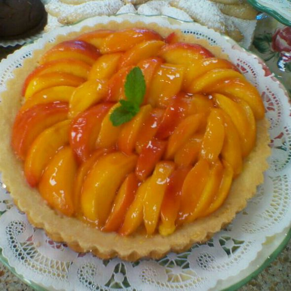 Fresh Peach Tart @ Scone Pony