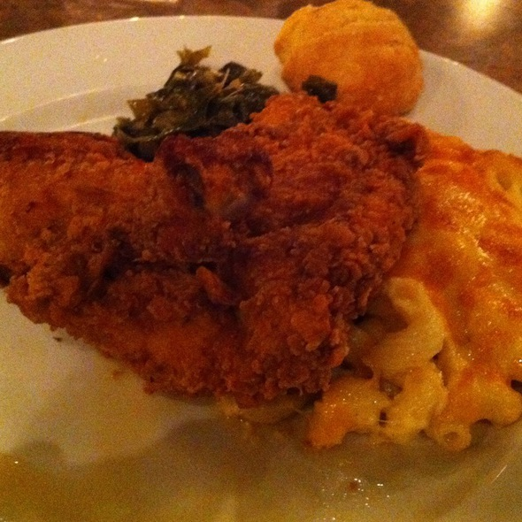 Fried Chicken, Mac And Cheese, Greens @ Eatonville Restaurant