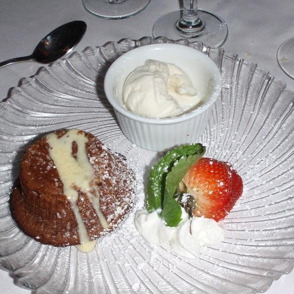 Ultimate Warm Chocolate Cake - The Victor Cafe, Philadelphia, PA