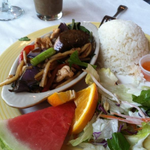 Eggplant, Bamboo Shoots, & Basil.  @ Royal Thai Cuisine