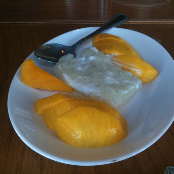 Sweet Sticky Rice With Mango @ Thai Stick Restaurant