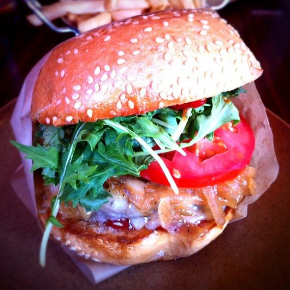 Sunny Side Burger @ Roam Artisan Burgers