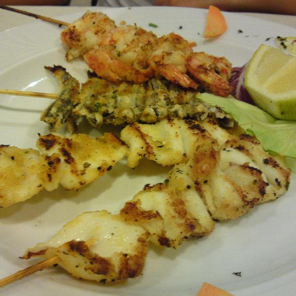 Skewers of grilled fish @ Ristorante Pizzeria Altamarea