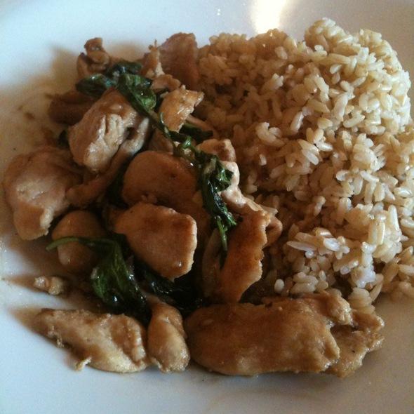 Thai Basil Stir Fry With Chicken - Kindee Thai Restaurant, Minneapolis, MN