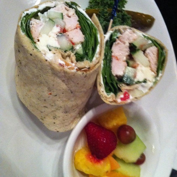 Greek Chicken Wrap - George's Neighborhood Grill, Indianapolis, IN
