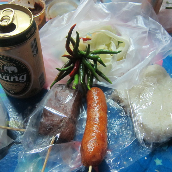 Grilled Thai Sausage @ Patong Food Cart