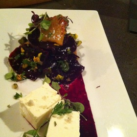 Beet Salad With Popcorn Pana Cotta